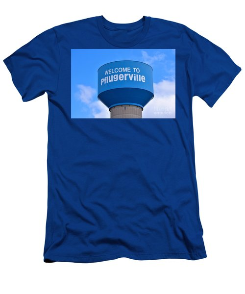 Pflugerville Texas - Water Tower Men's T-Shirt (Athletic Fit)