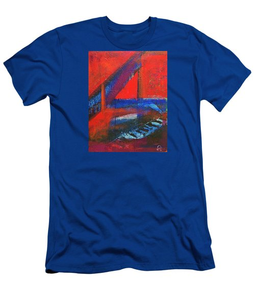 Piano In The Red Room Men's T-Shirt (Slim Fit)
