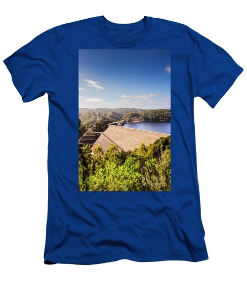 Picturesque Hydroelectric Dam Men's T-Shirt (Athletic Fit)