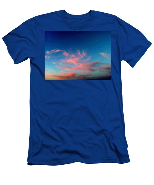 Pink Clouds Abstract Men's T-Shirt (Athletic Fit)