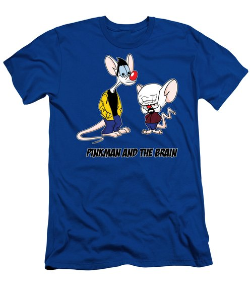 Pinkman And The Brain Breaking Bad Parody Pinky And The Brain Parody Breaking Bad Tv Show Men's T-Shirt (Athletic Fit)