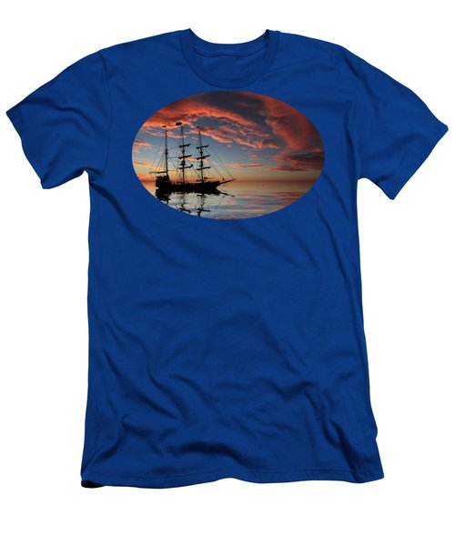 Pirate Ship At Sunset Men's T-Shirt (Athletic Fit)