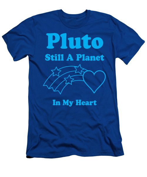 Pluto Still A Planet In My Heart Men's T-Shirt (Athletic Fit)