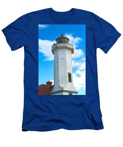 Point Wilson Light Close Up Men's T-Shirt (Athletic Fit)