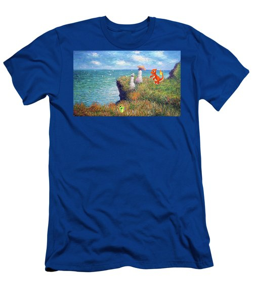 Men's T-Shirt (Slim Fit) featuring the digital art Pokemonet Seaside by Greg Sharpe