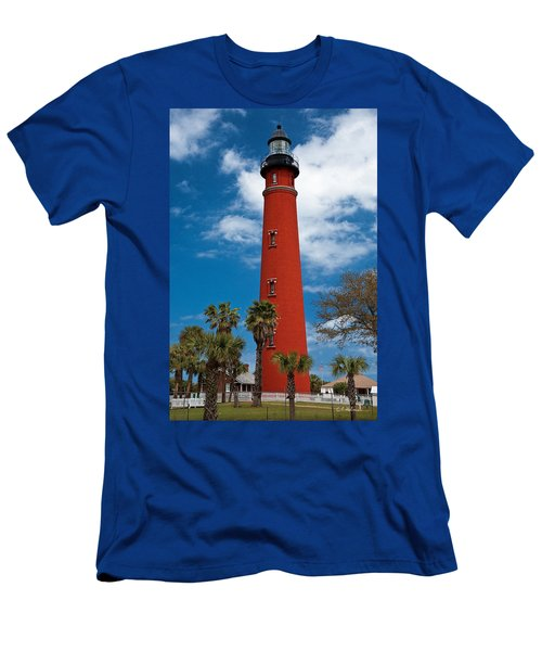 Ponce Inlet Lighthouse Men's T-Shirt (Slim Fit) by Christopher Holmes