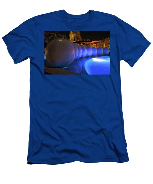 Men's T-Shirt (Athletic Fit) featuring the photograph Pool Balls At Night by Shane Bechler