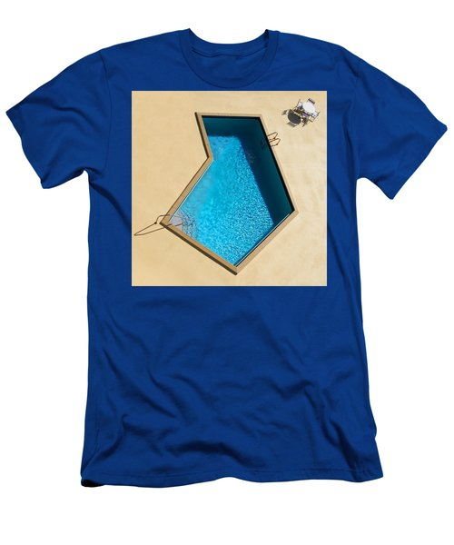 Men's T-Shirt (Slim Fit) featuring the photograph Pool Modern by Laura Fasulo