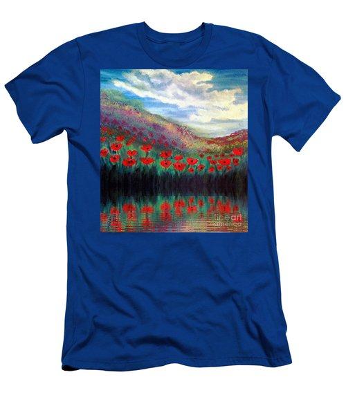 Poppy Wonderland Men's T-Shirt (Athletic Fit)