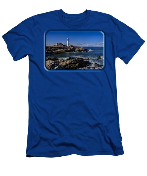 Portland Head Light No.32 Men's T-Shirt (Slim Fit) by Mark Myhaver