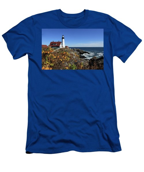 Portland Head Lighthouse In The Fall Men's T-Shirt (Athletic Fit)