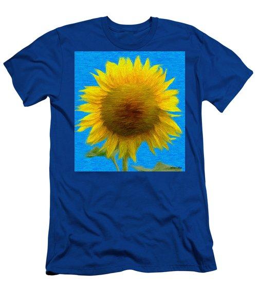 Portrait Of A Sunflower Men's T-Shirt (Athletic Fit)