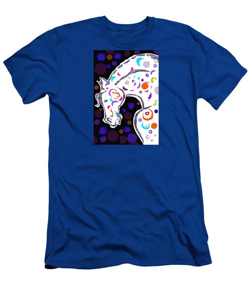 Men's T-Shirt (Slim Fit) featuring the digital art poster HORSE by Mary Armstrong