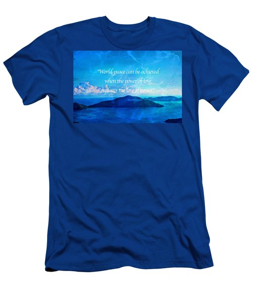 Power Of Love Men's T-Shirt (Slim Fit) by Joan Reese
