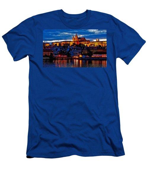 Prague Castle In The Evening Men's T-Shirt (Athletic Fit)