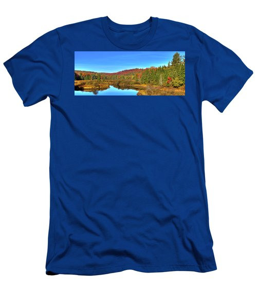 Men's T-Shirt (Athletic Fit) featuring the photograph Precious Memories At The Green Bridge by David Patterson