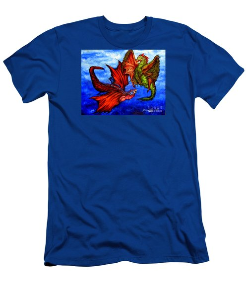 Prehistoric Fighting Fowl Men's T-Shirt (Athletic Fit)
