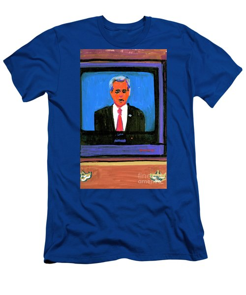 President George Bush Debate 2004 Men's T-Shirt (Slim Fit) by Candace Lovely