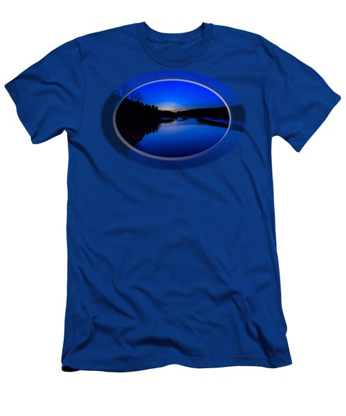 Men's T-Shirt (Athletic Fit) featuring the photograph Presumpscot Blues by Mark Myhaver