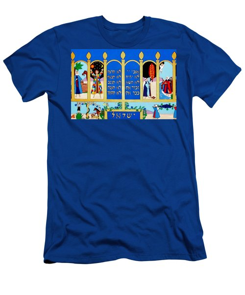 Men's T-Shirt (Slim Fit) featuring the painting Promised Land by Stephanie Moore