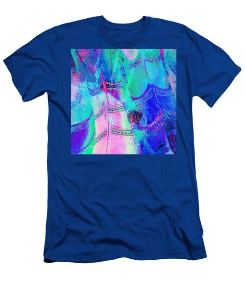 Psychedelic Blue Shoes Shopping Is Fun Abstract Square 4f Men's T-Shirt (Athletic Fit)