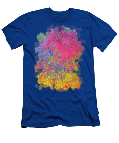 Psychedelic Laundry Transparent Design Men's T-Shirt (Slim Fit) by Shelly Weingart