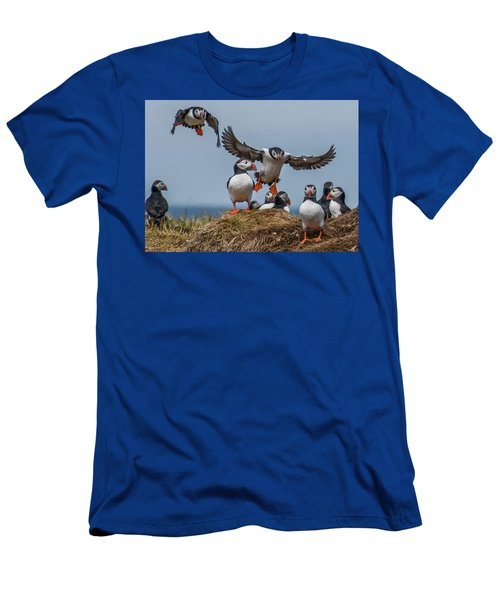 Puffins Men's T-Shirt (Athletic Fit)