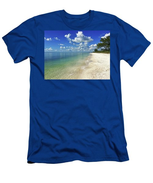 Puffy White Clouds At Delnor-wiggins Men's T-Shirt (Athletic Fit)