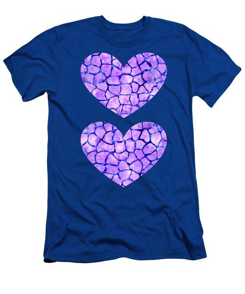 Purple Giraffe Print Men's T-Shirt (Athletic Fit)