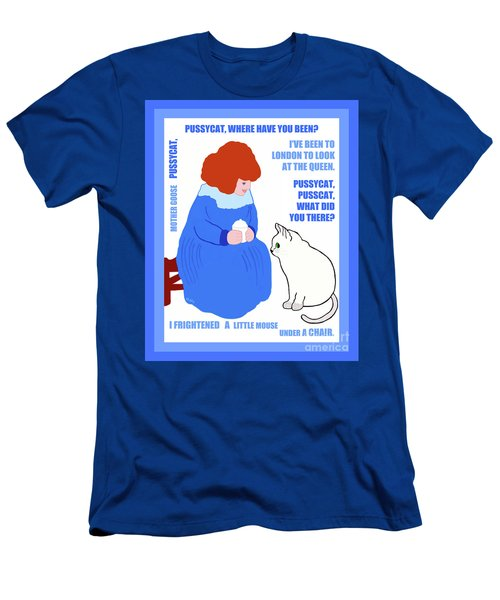 Men's T-Shirt (Athletic Fit) featuring the painting  Pussycat, Pussycat By Mother Goose by Marian Cates