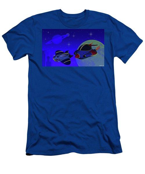 Race Thru Space Men's T-Shirt (Athletic Fit)
