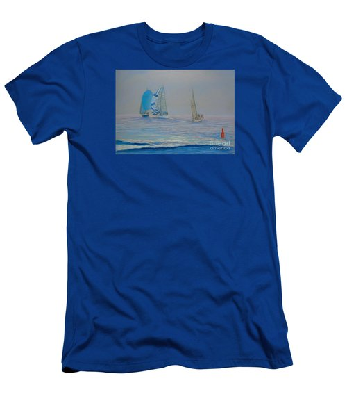 Raceing In The Fog Men's T-Shirt (Slim Fit) by Rae  Smith