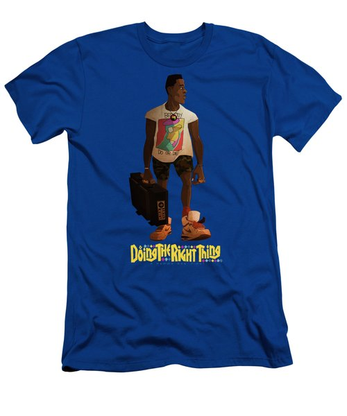Men's T-Shirt (Slim Fit) featuring the drawing Radio Raheem by Nelson Dedos Garcia