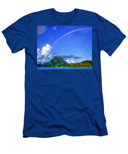 Rainbow Over Bora Bora Men's T-Shirt (Athletic Fit)