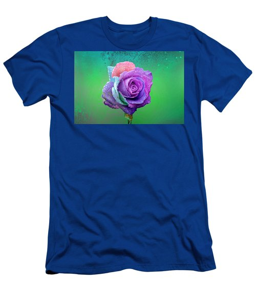 Men's T-Shirt (Athletic Fit) featuring the photograph Rainbow Rose by Ericamaxine Price