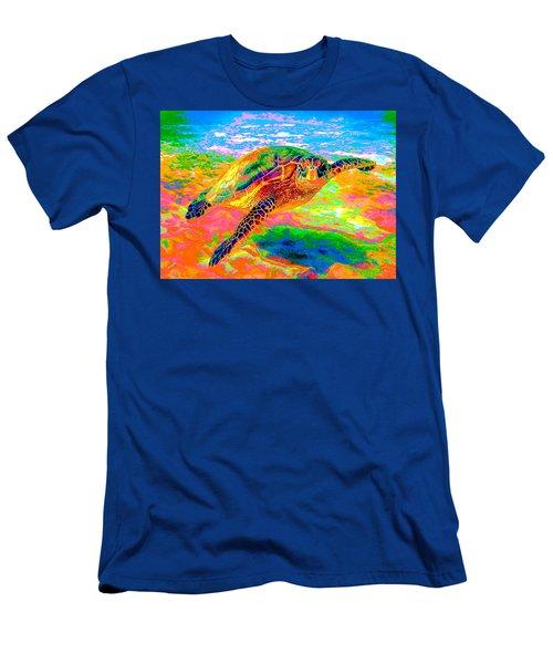 Rainbow Sea Turtle Men's T-Shirt (Athletic Fit)