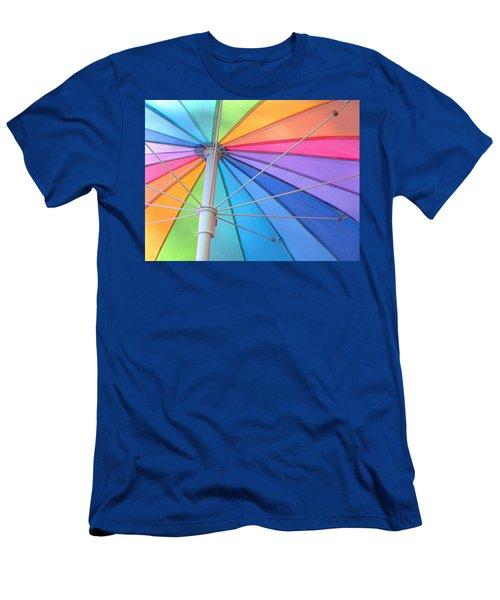 Rainbow Umbrella Men's T-Shirt (Athletic Fit)