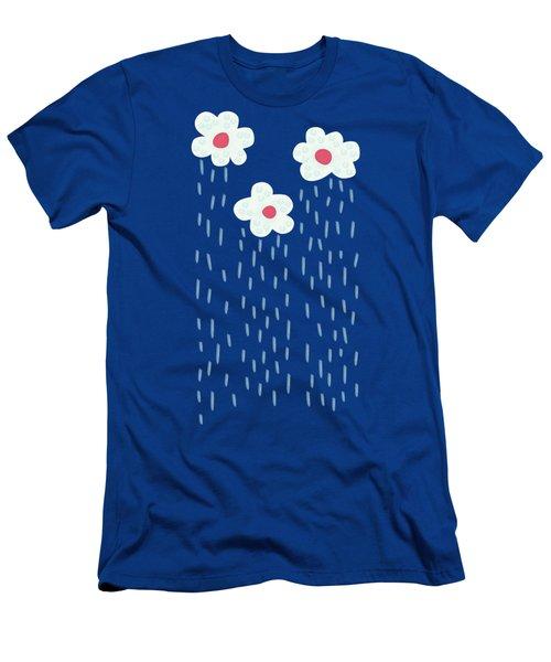 Raining Flowery Clouds Men's T-Shirt (Slim Fit)