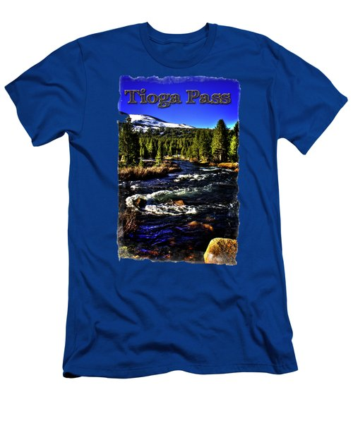 Rapids Along The Tioga Pass Road Men's T-Shirt (Slim Fit) by Roger Passman