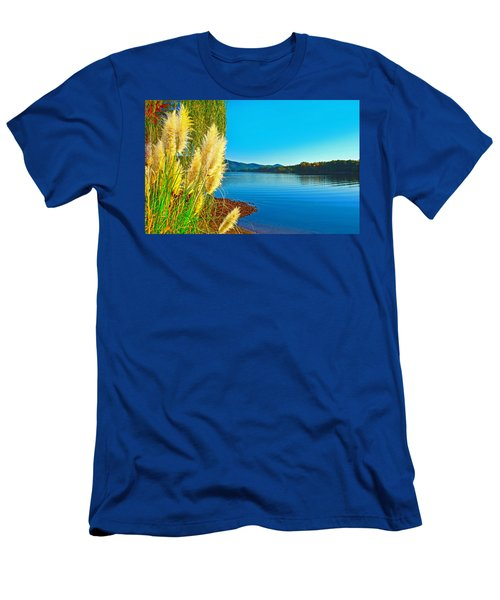 Ravenna Grass Smith Mountain Lake Men's T-Shirt (Slim Fit) by The American Shutterbug Society