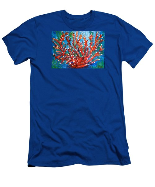 Red Coral Men's T-Shirt (Slim Fit) by Edgar Torres