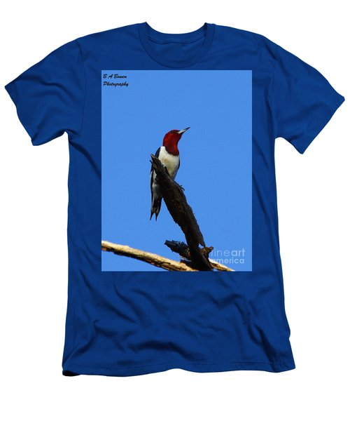 Red Headed Woodpecker On A Snag Men's T-Shirt (Athletic Fit)