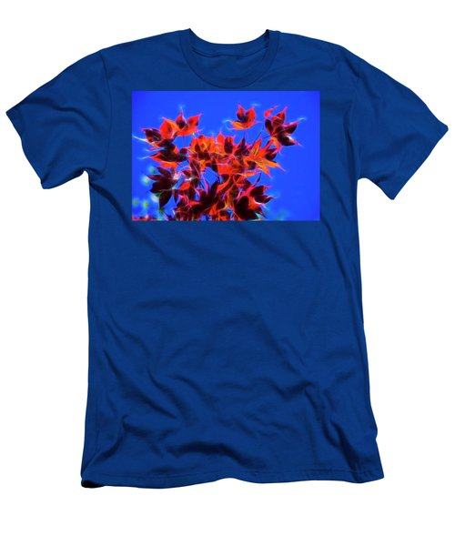 Men's T-Shirt (Slim Fit) featuring the photograph Red Maple Leaves by Yulia Kazansky