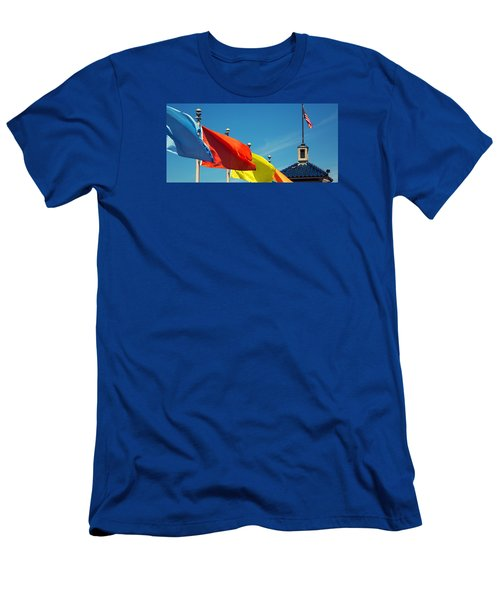 Redondo Beach Flags Men's T-Shirt (Athletic Fit)