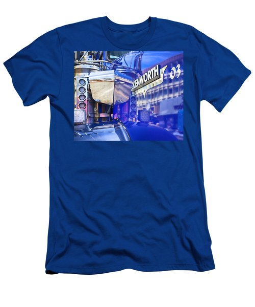 Reflecting On A Kenworth Men's T-Shirt (Slim Fit) by Theresa Tahara
