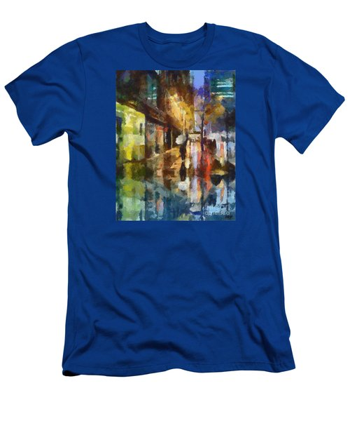 Reflection In The Rain Men's T-Shirt (Slim Fit) by Dragica  Micki Fortuna