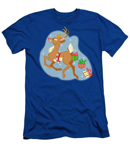 Reindeer Gifts Men's T-Shirt (Slim Fit) by J L Meadows