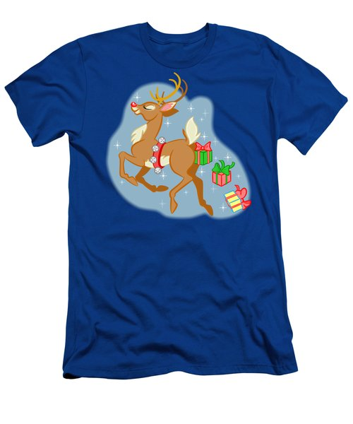 Naughty Reindeer Men's T-Shirt (Athletic Fit)