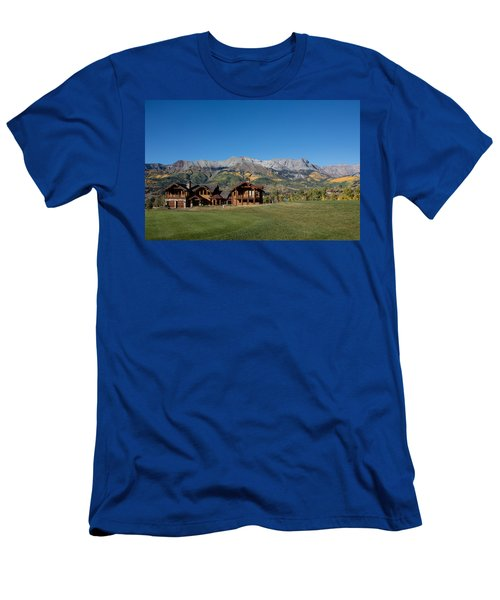 Men's T-Shirt (Slim Fit) featuring the photograph Residences In Mountain Village -- A Planned Community Adjacent To Telluride by Carol M Highsmith