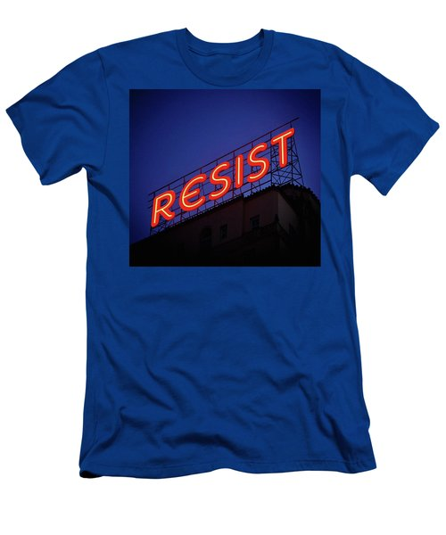 Resistance Neon Lights Men's T-Shirt (Athletic Fit)